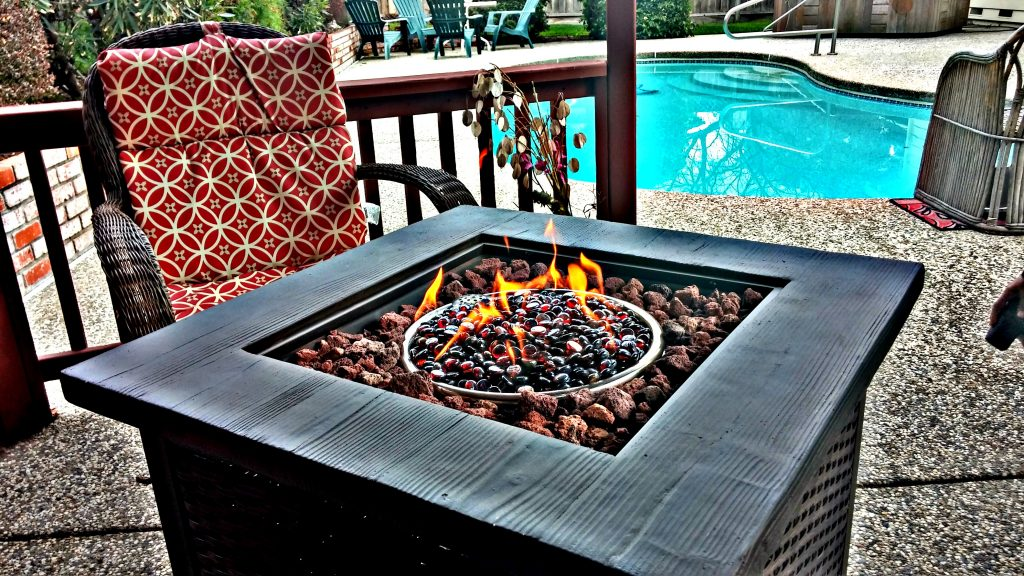 Fire Pit inside Gazebo in Backyard | San Francisco Bay Area Vacation Home Rentals