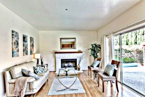 Family Room with TV, Sofa, Fire Place | San Francisco Bay Area Vacation Home Rental
