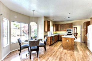 Kitchen - Island, Cabinets, Appliances, Dining Table